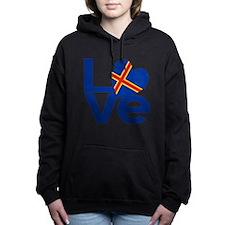 Blue Aaland Islands LOVE Women's Hooded Sweatshirt