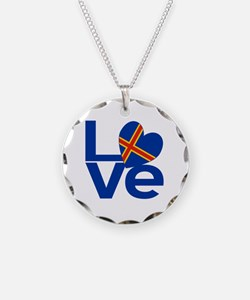 Blue Aaland Islands LOVE Necklace