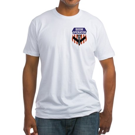 Boom Operator w/moto/135 Fitted T-Shirt
