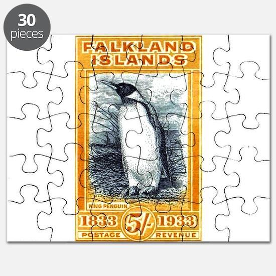 1933 Falkland Islands Penguin Postage Stamp Puzzle