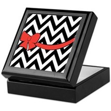With A Red Bow Keepsake Box