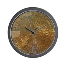 Golden mineral Wall Clock