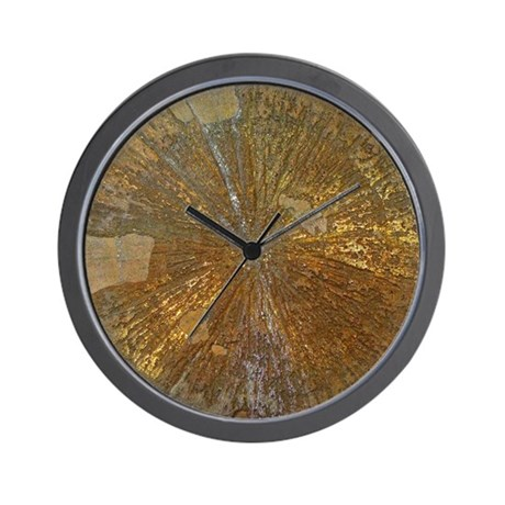 Golden mineral wall clock by listing store 119412993 for Mineral wall