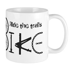 Ride the Trail Bike Graffiti quote Mugs