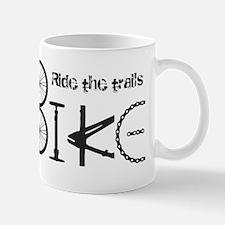 Ride the Trail Bike Graffiti quote Mugs