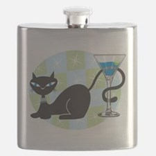 Cocktail Kitty Flask