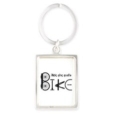 Ride the Trail Bike Graffiti quote Keychains