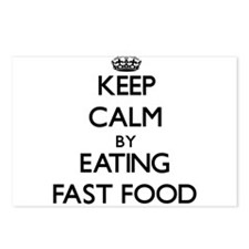 Keep calm by eating Fast Food Postcards (Package o