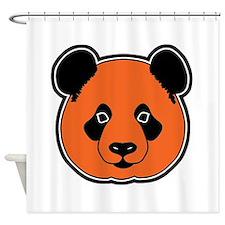 panda head 11 Shower Curtain