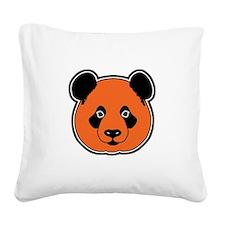 panda head 11 Square Canvas Pillow