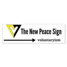 V for Voluntaryism Bumper Sticker
