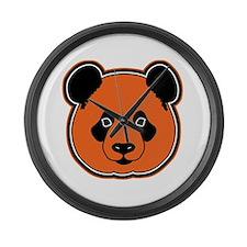 panda head 12 Large Wall Clock