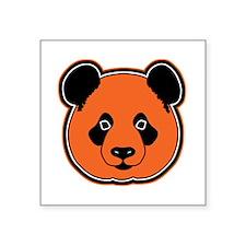 "panda head 12 Square Sticker 3"" x 3"""