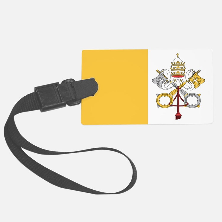 vatican-city flag gifts Luggage Tag
