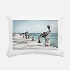 Pelicans Rectangular Canvas Pillow