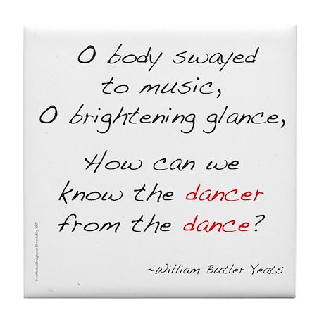 Yeats On Dance Tile Coaster