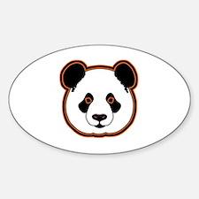 panda head 15 Decal