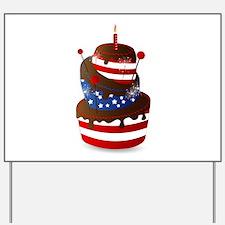 Happy 4th celebration cake Yard Sign