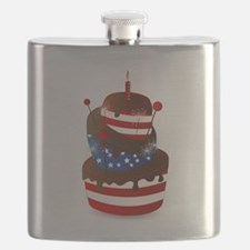 Happy 4th celebration cake Flask
