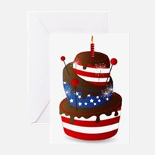 Happy 4th celebration cake Greeting Cards