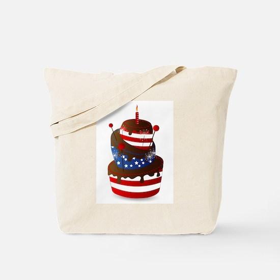 Happy 4th celebration cake Tote Bag