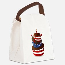 Happy 4th celebration cake Canvas Lunch Bag