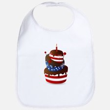 Happy 4th celebration cake Bib