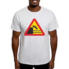 Car Crashing into Water Ash Grey T-Shirt