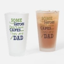 Unique Super hero dad Drinking Glass
