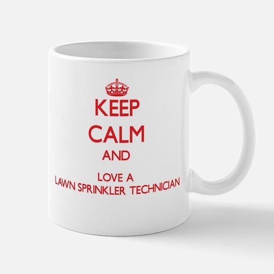 Keep Calm and Love a Lawn Sprinkler Technician Mug