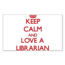 Keep Calm and Love a Librarian Decal