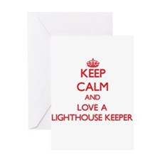 Keep Calm and Love a Lighthouse Keeper Greeting Ca