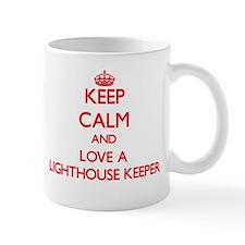 Keep Calm and Love a Lighthouse Keeper Mugs
