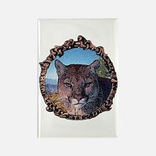 Mountain lion hunter Rectangle Magnet