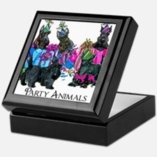 Scottish Terrier Party Animals Keepsake Box