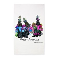 Scottish Terrier Party Animals 3'x5' Area Rug