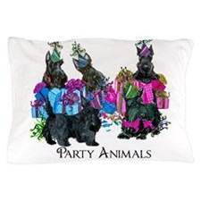 Scottish Terrier Party Animals Pillow Case