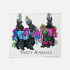 Scottish Terrier Party Animals Throw Blanket