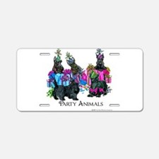 Scottish Terrier Party Anim Aluminum License Plate