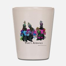 Scottish Terrier Party Animals Shot Glass