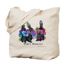 Scottish Terrier Party Animals Tote Bag