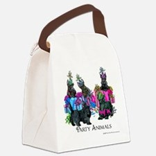 Scottish Terrier Party Animals Canvas Lunch Bag