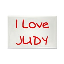 judy Rectangle Magnet