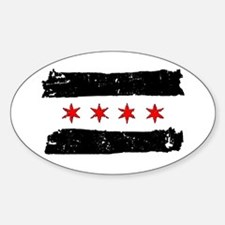 Funny Chicago flag Decal
