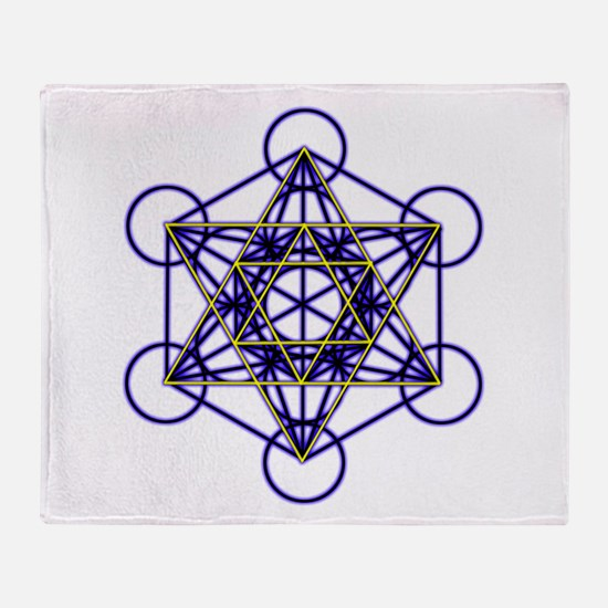 MetatronBlueStar Throw Blanket