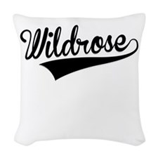 Wildrose, Retro, Woven Throw Pillow