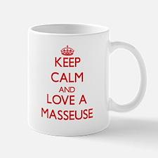 Keep Calm and Love a Masseuse Mugs