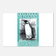 1933 Falkland Islands Penguin Postage Stamp Postca