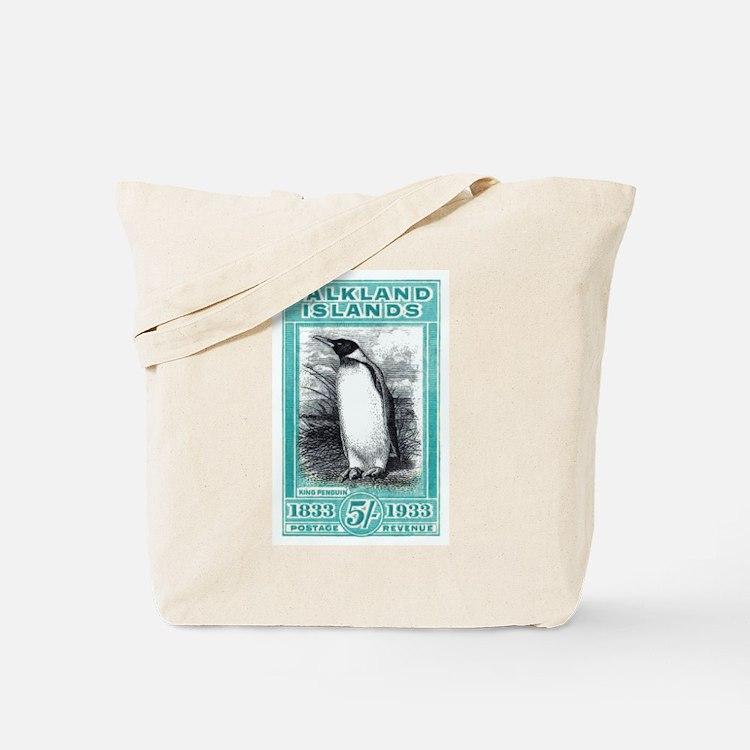 1933 Falkland Islands Penguin Postage Stamp Tote B