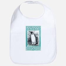 1933 Falkland Islands Penguin Postage Stamp Bib